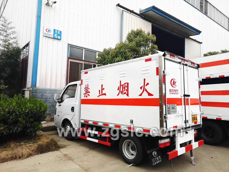 湖北程力集团东风途逸易燃气体厢式运输车(国五)